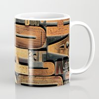 letters Mugs featuring Letters by Bekare Creative