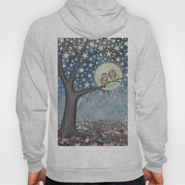 northern saw whet owls under the stars Hoody