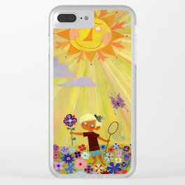 ...and one golden sun Clear iPhone Case