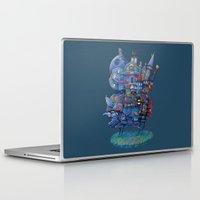 fandom Laptop & iPad Skins featuring Fandom Moving Castle by nokeek
