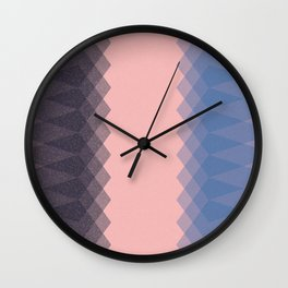 Blue Pentagons Wall Clock