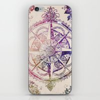 rose iPhone & iPod Skins featuring Voyager II by Jenndalyn