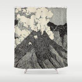 Naturalist Volcano Shower Curtain