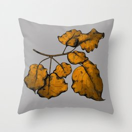 Fall Foliage by Brenna Litynski Throw Pillow