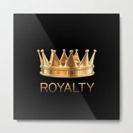 Gold Royalty Metal Print