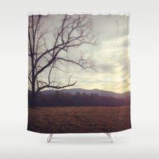 Golden Mountains Shower Curtain