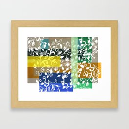 Unconventional lace Framed Art Print