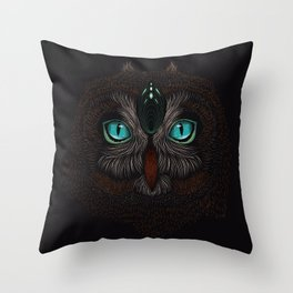 Owl Totem Throw Pillow