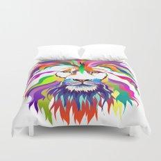 The Lion of Technicolor Duvet Cover
