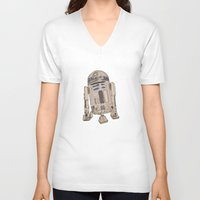 r2d2 V-neck T-shirts featuring R2D2 by colleencunha