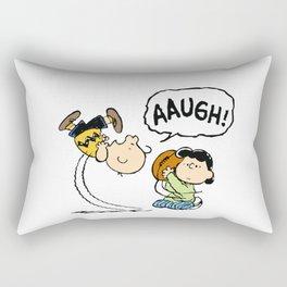 Charlie Brown Foot Ball Rectangular Pillow