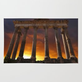 Temple of Saturn Ruins Rug