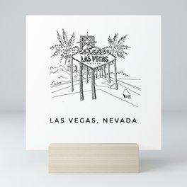 Las Vegas Sketch Mini Art Print