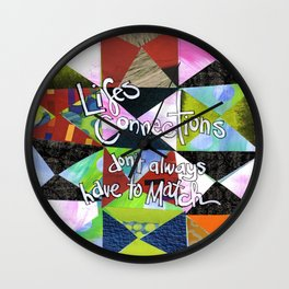 Lifes Connections Wall Clock