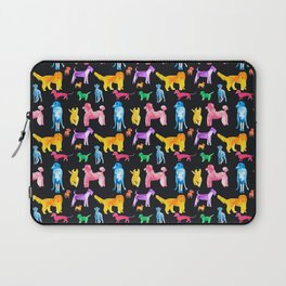 Happy Dogs On Black Laptop Sleeve