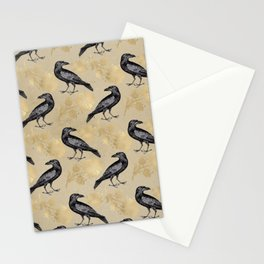 Vintage Crow Stationery Cards