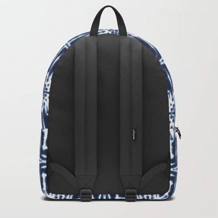 Watercolor Shibori Indigo Backpack