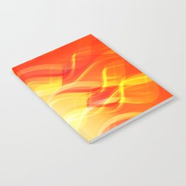 Theme of fire for the banner. Bright red and orange glare on a gentle background for a fabric or pos Notebook