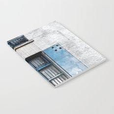 Architect Drawing of Blue Wooden Windows Notebook