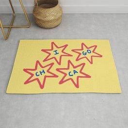 Chicago, Illinois 6-Pointed Stars Rug