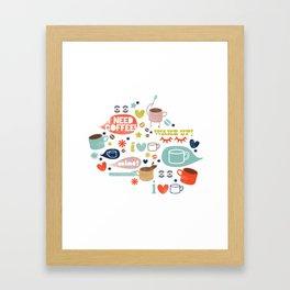 Caffeine Addict Framed Art Print
