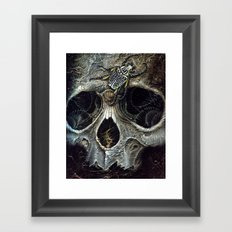 goliath skull Framed Art Print