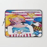patriotic Laptop Sleeves featuring Patriotic Girl by Judy Skowron
