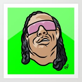 "Bret ""The Gunman"" Hart Art Print"