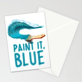 Paint It, Blue Stationery Cards