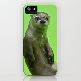 Green Otter iPhone Case