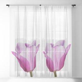 Mauve Tulip Sheer Curtain
