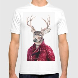 Deer In Leather T-shirt