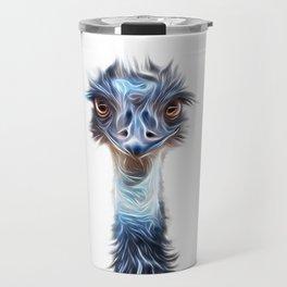 Luminous Emu Art Travel Mug