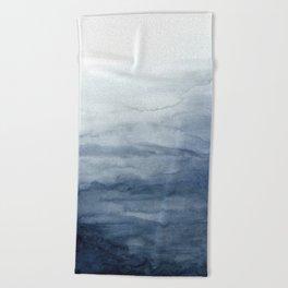Indigo Abstract Painting | No.2 Beach Towel