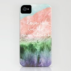 Love is in the Mountains iPhone (4, 4s) Slim Case