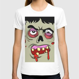 Cartoon Zombie face T-shirt