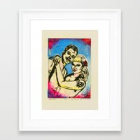 rockabilly Framed Art Prints featuring Rockabilly love by Lydia Dick