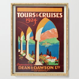 Affiche Travel Poster Dean & Dawson Tours Cruises Serving Tray