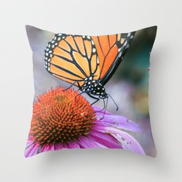 MONARCH SPRING Throw Pillow