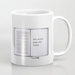 Funny Error 404  Coffee Mug