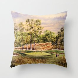 Merion Golf Course 17th Hole Throw Pillow