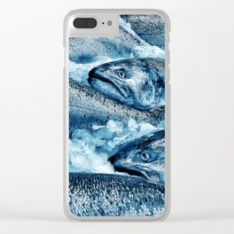 Pike Street Market Salmon by Crow Creek Coolture Clear iPhone Case