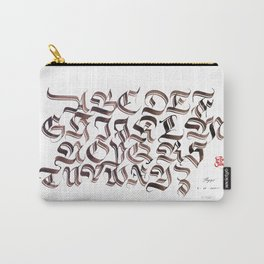 Double Trase Fraktur Schrift Carry-All Pouch
