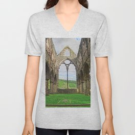 Tintern Eternal - Tintern Abbey, Wales, UK Unisex V-Neck