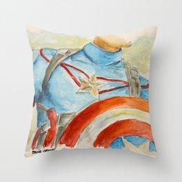 Capt America - Fictional Superhero Throw Pillow