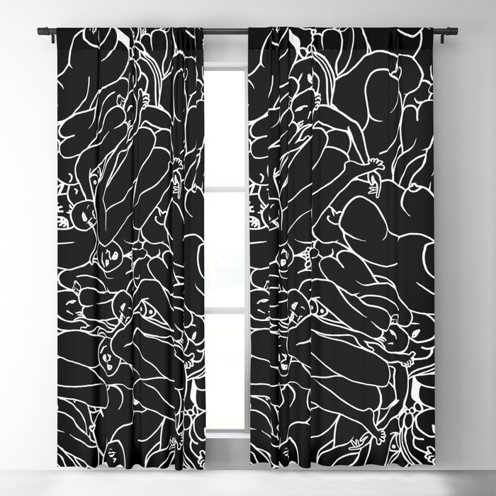 Fifty shades of Love (Dark) Blackout Curtain