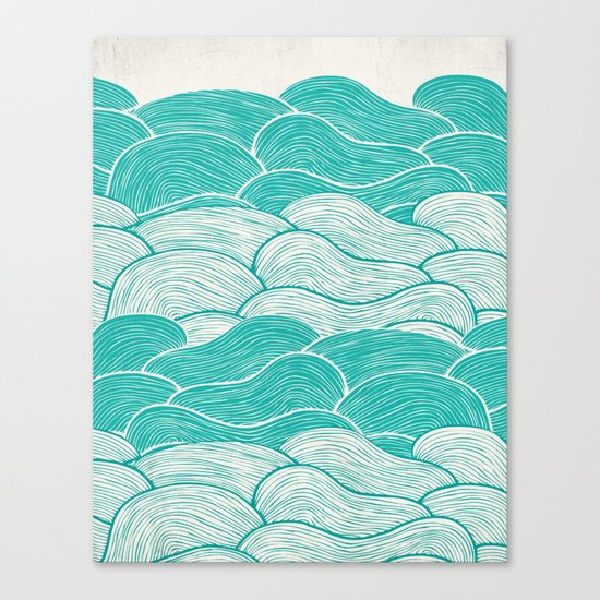 The Calm and Stormy Seas Canvas Print