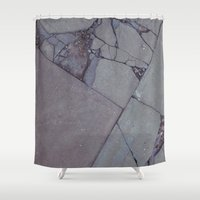 rocky Shower Curtains featuring rocky by Amanda Stockwell