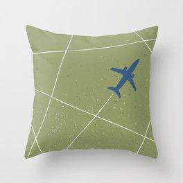 The Jet Set - Moss Throw Pillow