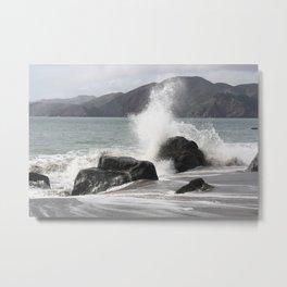 Splashed Metal Print